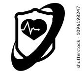 cardio icon and shield....   Shutterstock .eps vector #1096198247