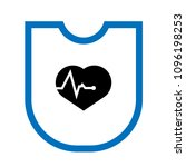 cardio icon and shield....   Shutterstock .eps vector #1096198253