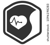 cardio icon and shield....   Shutterstock .eps vector #1096198283