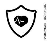 cardio icon and shield....   Shutterstock .eps vector #1096198307