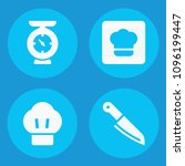 set of 4 kitchen filled icons... | Shutterstock .eps vector #1096199447