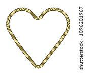 rope frame in a heart shape ...   Shutterstock .eps vector #1096201967