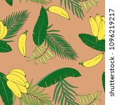 tropical background with palm... | Shutterstock .eps vector #1096219217