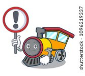 with sign train character... | Shutterstock .eps vector #1096219337