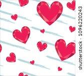 gem heart seamless pattern....   Shutterstock .eps vector #1096220243
