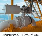 shut down valve on off valve... | Shutterstock . vector #1096224983