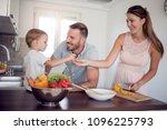 happy family preparing...   Shutterstock . vector #1096225793