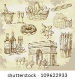 france original hand drawn set | Shutterstock .eps vector #109622933