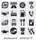 vector black auto icons set | Shutterstock .eps vector #109623173