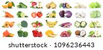 fruit many fruits and... | Shutterstock . vector #1096236443