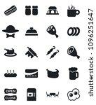 set of vector isolated black... | Shutterstock .eps vector #1096251647
