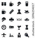 set of vector isolated black... | Shutterstock .eps vector #1096254017