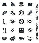 set of vector isolated black... | Shutterstock .eps vector #1096261157