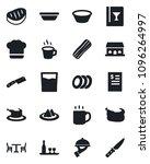 set of vector isolated black... | Shutterstock .eps vector #1096264997