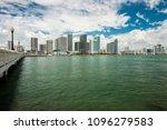 beautiful miami skyline from... | Shutterstock . vector #1096279583