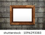 brown wood frame or photo frame ... | Shutterstock . vector #1096293383