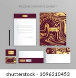 corporate identity business set.... | Shutterstock .eps vector #1096310453