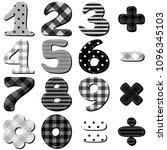 scrapbook numbers on white... | Shutterstock .eps vector #1096345103