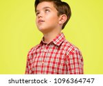 handsome toddler child with... | Shutterstock . vector #1096364747