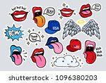 new youth stickers  patches in...   Shutterstock .eps vector #1096380203