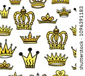 crowns seamless pattern design. ... | Shutterstock .eps vector #1096391183