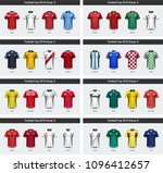 national team soccer jersey... | Shutterstock .eps vector #1096412657