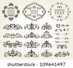 vector set of calligraphic...   Shutterstock .eps vector #109641497
