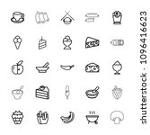 tasty icon. collection of 25...   Shutterstock .eps vector #1096416623