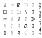 pants icon. collection of 25... | Shutterstock .eps vector #1096416863
