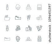 therapy icon. collection of 16... | Shutterstock .eps vector #1096451597