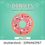 donuts poster template.... | Shutterstock .eps vector #1096462967