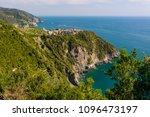 picturesque village rising... | Shutterstock . vector #1096473197