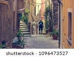 couple walking through... | Shutterstock . vector #1096473527