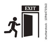 emergency icon of exit sign...   Shutterstock .eps vector #1096473563