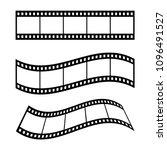 film strip frame blank... | Shutterstock .eps vector #1096491527