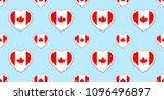 canada flag seamless pattern.... | Shutterstock .eps vector #1096496897