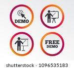 demo with cursor icon.... | Shutterstock .eps vector #1096535183