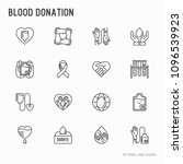blood donation  charity  mutual ... | Shutterstock .eps vector #1096539923