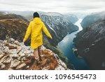 traveler walking alone in... | Shutterstock . vector #1096545473