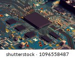 electronic circuit board close... | Shutterstock . vector #1096558487