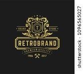 luxury logo design template... | Shutterstock .eps vector #1096565027