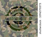 gold membership on camouflaged ... | Shutterstock .eps vector #1096570373
