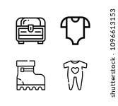 outline fashion icon set such... | Shutterstock .eps vector #1096613153