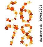 autumn maples leaves letter set.... | Shutterstock .eps vector #109662503