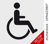 wheelchair   vector... | Shutterstock .eps vector #1096625807
