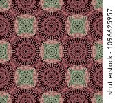 seamless orient pattern made of ... | Shutterstock .eps vector #1096625957