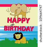 happy birthday greeting card | Shutterstock .eps vector #109664747
