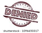 denied rubber stamp | Shutterstock .eps vector #1096650317