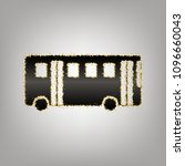 bus simple sign. vector.... | Shutterstock .eps vector #1096660043