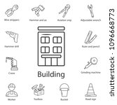 building icon. simple element... | Shutterstock .eps vector #1096668773